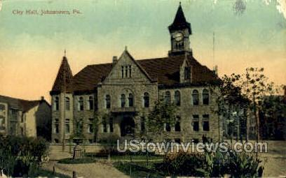 City Hall, Johnstown - Pennsylvania PA Postcard