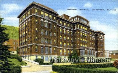 Memorial Hospital, Johnstown - Pennsylvania PA Postcard