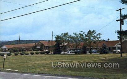 West Vu Motel - Johnstown, Pennsylvania PA Postcard