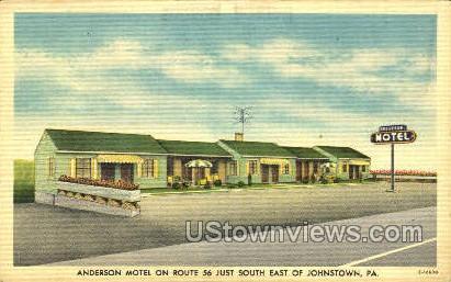 Anderson Motel - Johnstown, Pennsylvania PA Postcard