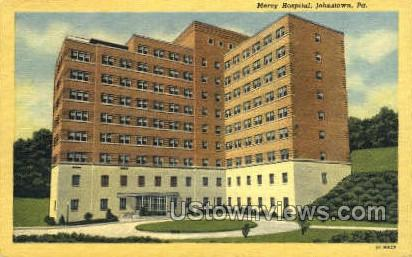 Mercy Hospital - Johnstown, Pennsylvania PA Postcard