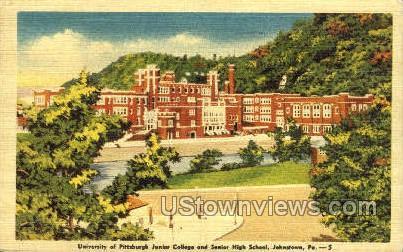 University Pittsburgh Junior College - Johnstown, Pennsylvania PA Postcard