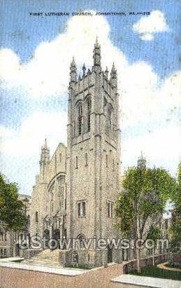 First Lutheran Church - Johnstown, Pennsylvania PA Postcard