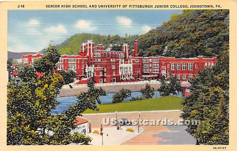 Senior High School, University of Pittsburgh Junior College - Johnstown, Pennsylvania PA Postcard