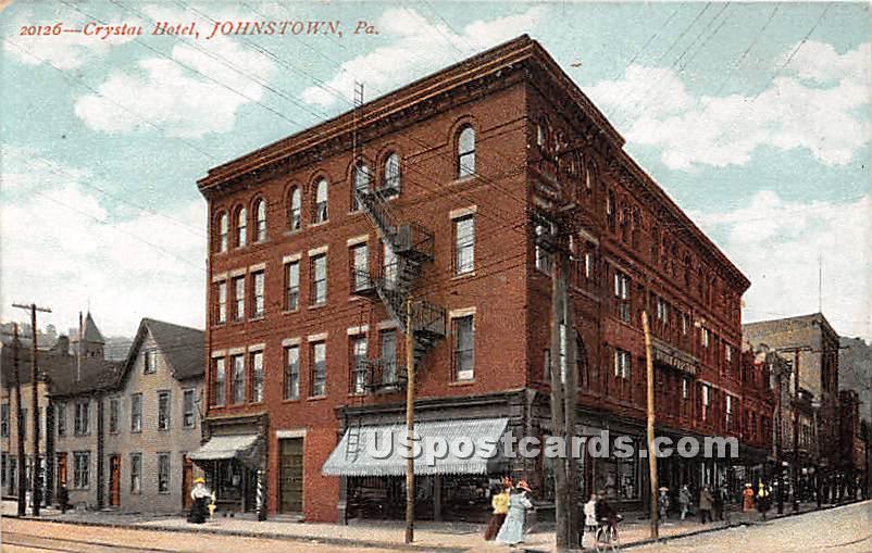 Crystal Hotel - Johnstown, Pennsylvania PA Postcard