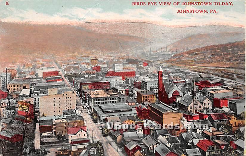 Johnstown To-Day - Pennsylvania PA Postcard