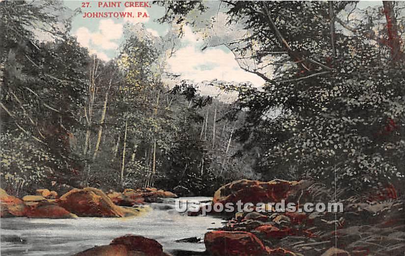 Paint Creek - Johnstown, Pennsylvania PA Postcard