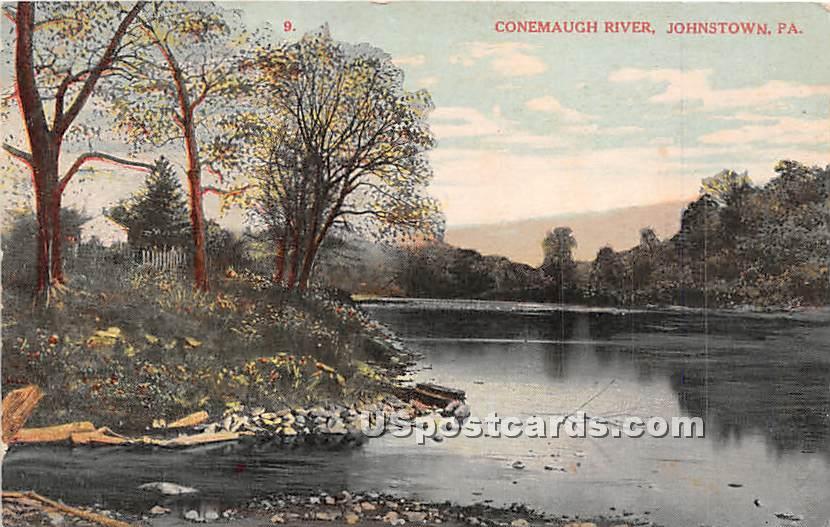 Conemaugh River - Johnstown, Pennsylvania PA Postcard