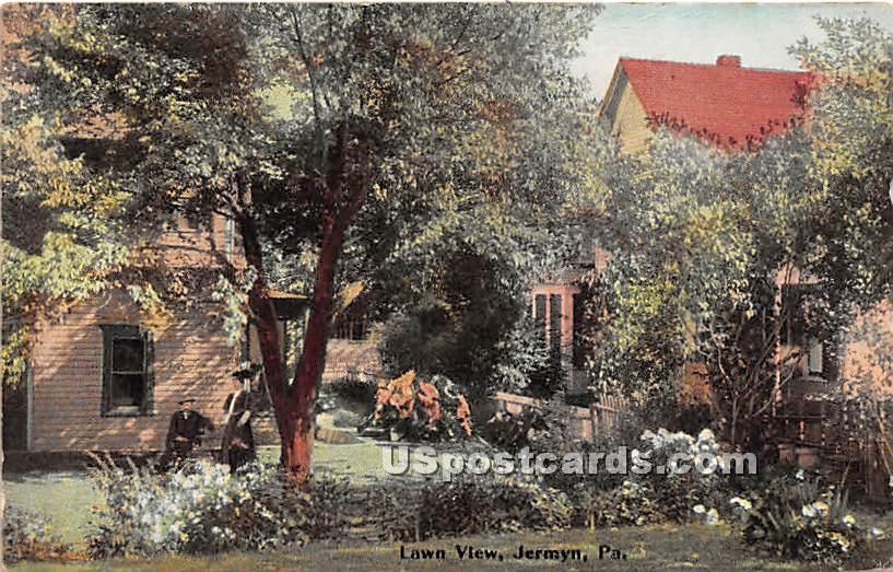 Lawn View - Jermyn, Pennsylvania PA Postcard