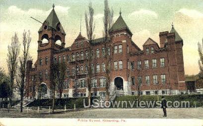 Public School, Kittanning - Pennsylvania PA Postcard