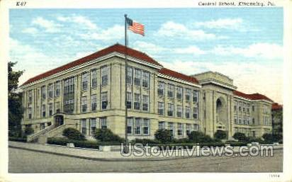 Central School, Kittanning - Pennsylvania PA Postcard