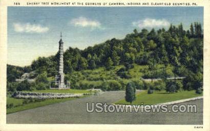 Cherry Tree Monument - Kittanning, Pennsylvania PA Postcard