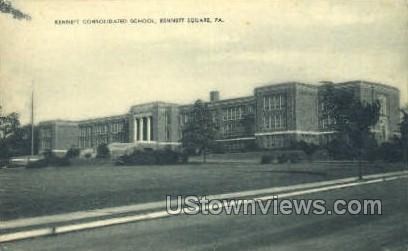 Kennett Consolidated School - Kennett Square, Pennsylvania PA Postcard