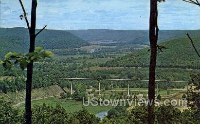 Cornplanter Bridge - Bradford, Pennsylvania PA Postcard