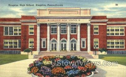 Kingston High School - Pennsylvania PA Postcard