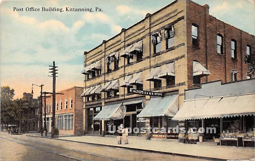 Post Office Building - Kittanning, Pennsylvania PA Postcard