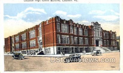 Lebanon High Schoold Bldg. - Pennsylvania PA Postcard