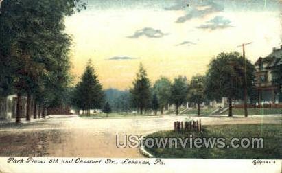 Park Place, 5th & Chestnut Street - Lebanon, Pennsylvania PA Postcard