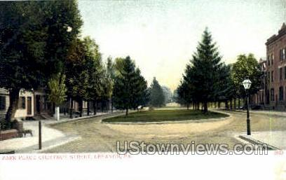 Park Place, Chestnut Street - Lebanon, Pennsylvania PA Postcard
