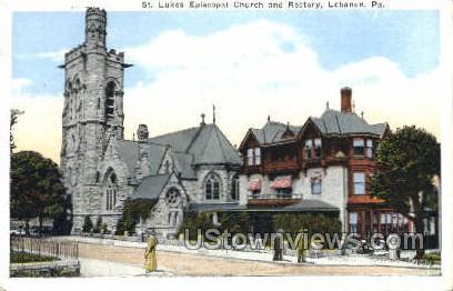 St. Lukes Episcopal Church - Lebanon, Pennsylvania PA Postcard