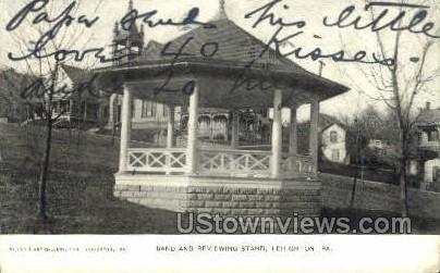 Band & Reviewing Stand - Lehighton, Pennsylvania PA Postcard