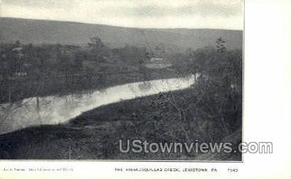 Kishacoqullas Creek - Lewistown, Pennsylvania PA Postcard