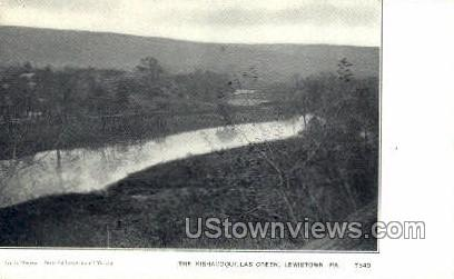 Kishacoqullas Creek - Lewistown, Pennsylvania PA Postcard