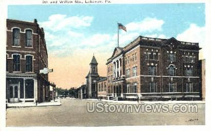 9th & Willow Streets - Lebanon, Pennsylvania PA Postcard