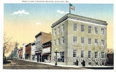 Eighth & Chestnut Streets - Lebanon, Pennsylvania PA Postcard
