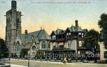 St. Luke's Episcopal Church - Lebanon, Pennsylvania PA Postcard