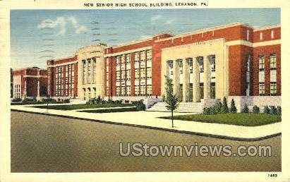 New Senior High School Bldg. - Lebanon, Pennsylvania PA Postcard
