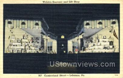 Welch's Souvenir & Gift Shop - Lebanon, Pennsylvania PA Postcard
