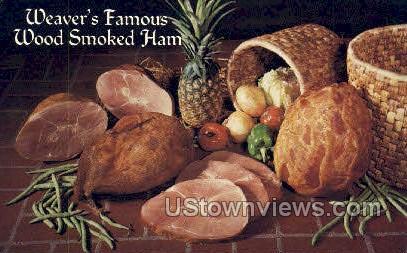 Wood Smoked Ham - Lebanon, Pennsylvania PA Postcard