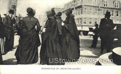 Memmonites of Lancaster County - Pennsylvania PA Postcard