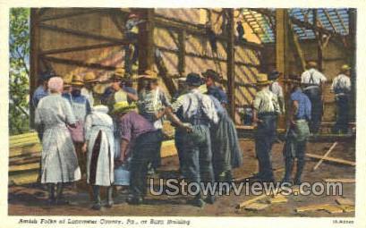 Amish Folks of Lancaster County - Pennsylvania PA Postcard