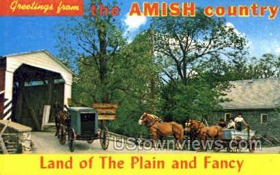 Amish Country, Plain & Fancy - Lancaster, Pennsylvania PA Postcard
