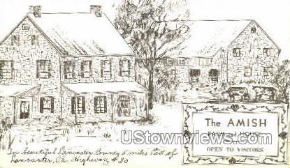 The Amish Farm & House - Lancaster, Pennsylvania PA Postcard