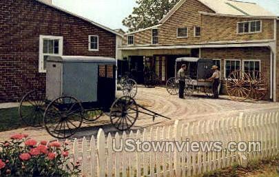 Amish Carriage Maker's Shop - Lancaster, Pennsylvania PA Postcard