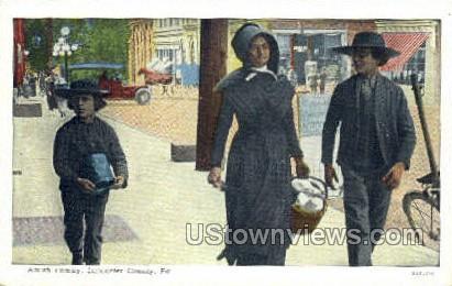 Amish Family Carriage - Lancaster, Pennsylvania PA Postcard