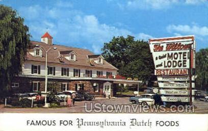 Willows Motel Lodge - Lancaster, Pennsylvania PA Postcard