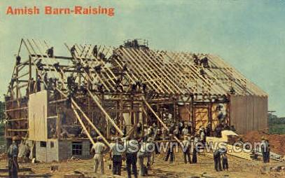 Amish Barn - Lancaster, Pennsylvania PA Postcard