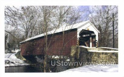 Siegrist's Mill Covered Bridge - Lancaster, Pennsylvania PA Postcard