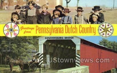 Soudersburg Bridge - Lancaster, Pennsylvania PA Postcard