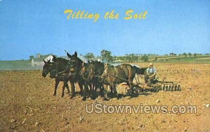 Filling the Soil - Lancaster, Pennsylvania PA Postcard