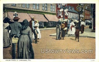 Amish Folks - Lancaster, Pennsylvania PA Postcard