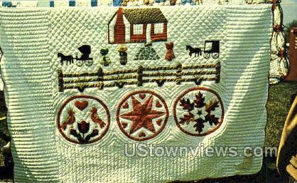 Quilts, Dutch Craft - Lancaster, Pennsylvania PA Postcard