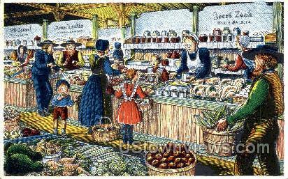 Dutch Country Market - Lancaster, Pennsylvania PA Postcard