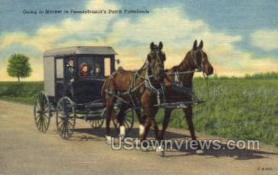 Ductch Farmlands - Lancaster, Pennsylvania PA Postcard