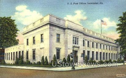 US Posts Office, Lancaster - Pennsylvania PA Postcard