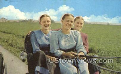 Buggy Ride, Amish - Lancaster, Pennsylvania PA Postcard